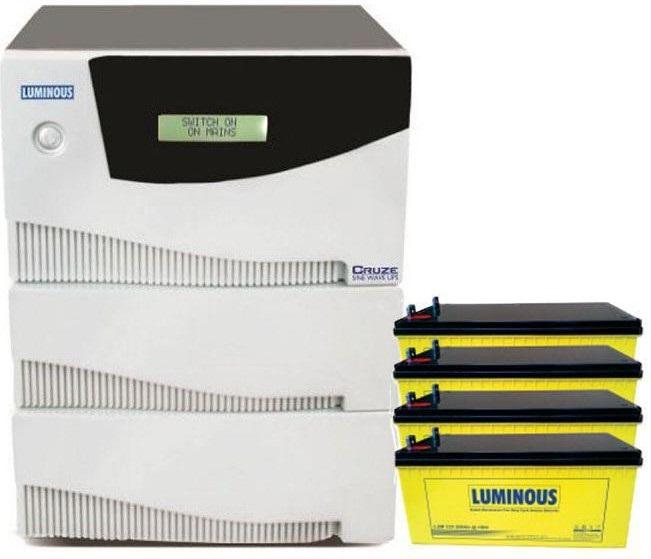 Luminous 3 5kva 48v Pure Sinewave Inverter 412v 200ah Smf