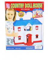 24 Pcs Country Doll House With Furniture