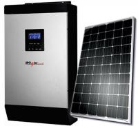 iPowerPlus 1KVA Inverter and 2 Batteries and 2 Solar Panels and Roof Mount with 20meters-