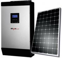 iPowerPlus 2KVA Inverter and 2 Batteries and 2 Solar Panels and Solar Roof Mount with