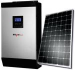 iPowerPlus 3KVA Inverter  2 Batteries  2 Solar Panels and Solar Roof Mount with
