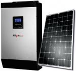 iPowerPlus 5KVA Inverter and 8 batteries and 8 Solar Panels and 2 Solar Roof Mounts with