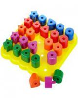 The Learning Journey Learning Resources Stacking Shapes Pegboard
