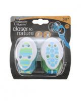 Tommee Tippee Closer 2 Nature Soother Holder - Green/Blue